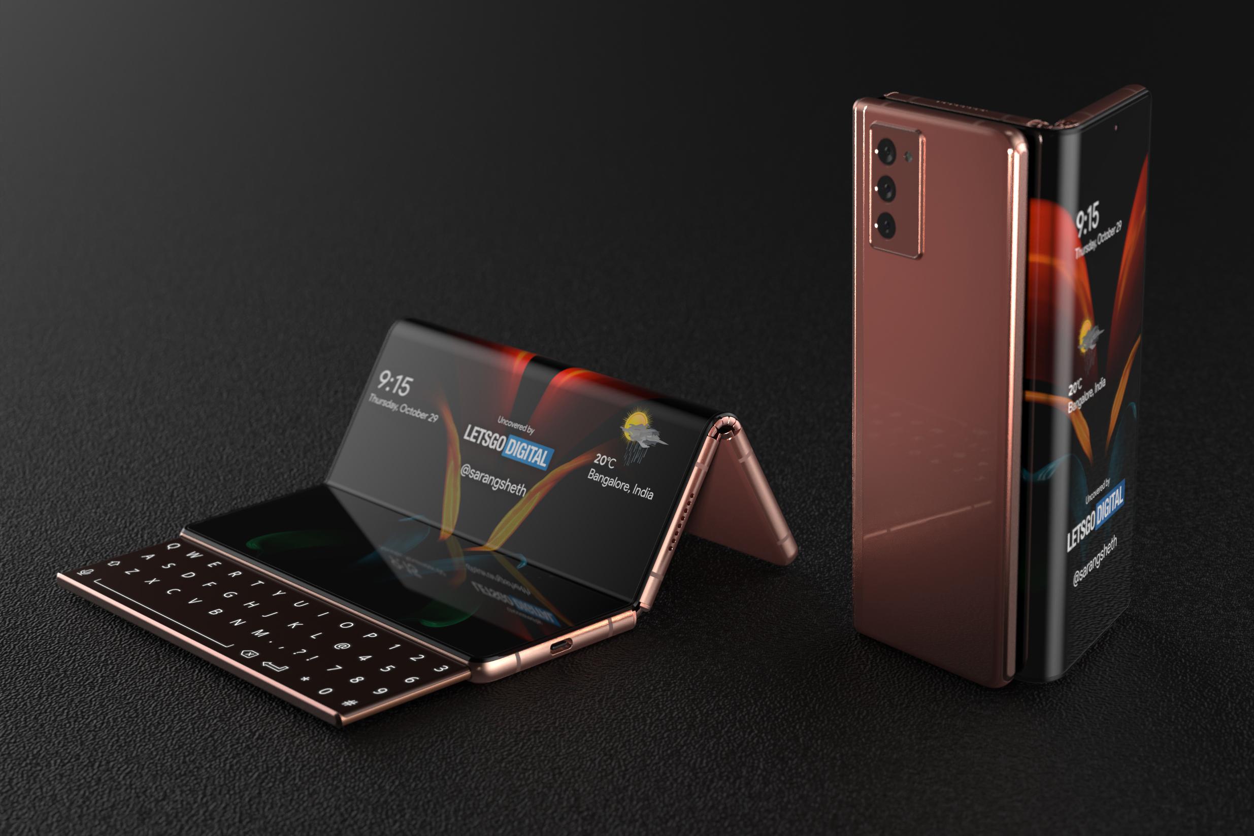 Samsung Galaxy Z Fold with sliding keyboard